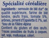 Les Crozets, Tomate / Piment d'Espelette - Ingredients - fr