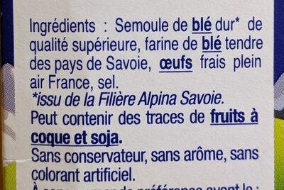 Crozets nature - Ingrédients
