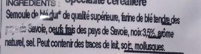 Taillerins aux noix - Ingrédients