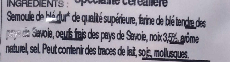 Taillerins aux noix - Ingrédients - fr