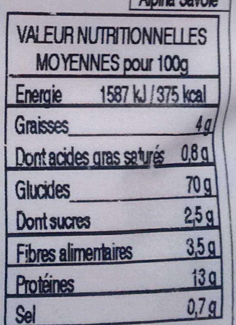 Taillerins aux noix - Informations nutritionnelles - fr