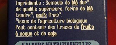 Crozets blancs - Ingredienti - fr