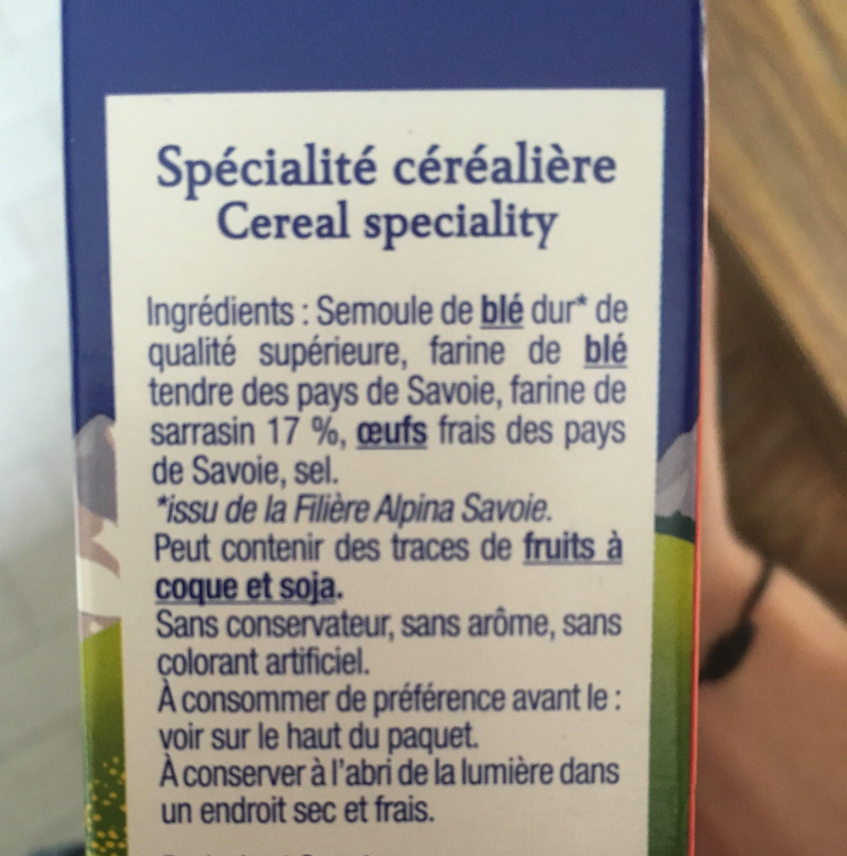 Crozets au sarrasin - Ingrédients