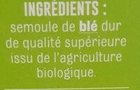 Coucous Blanc Bio de France - Ingrédients - fr