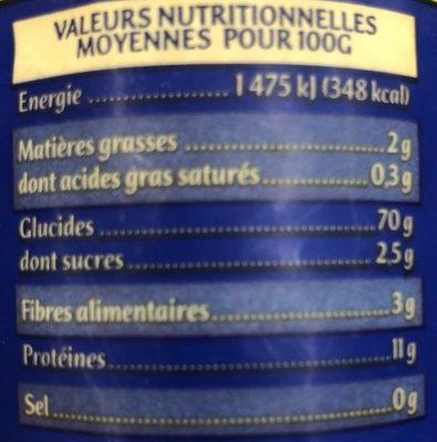 Vermicelles Bio - Informations nutritionnelles - fr