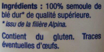 Les Nouilles Savoisiennes - Ingrédients