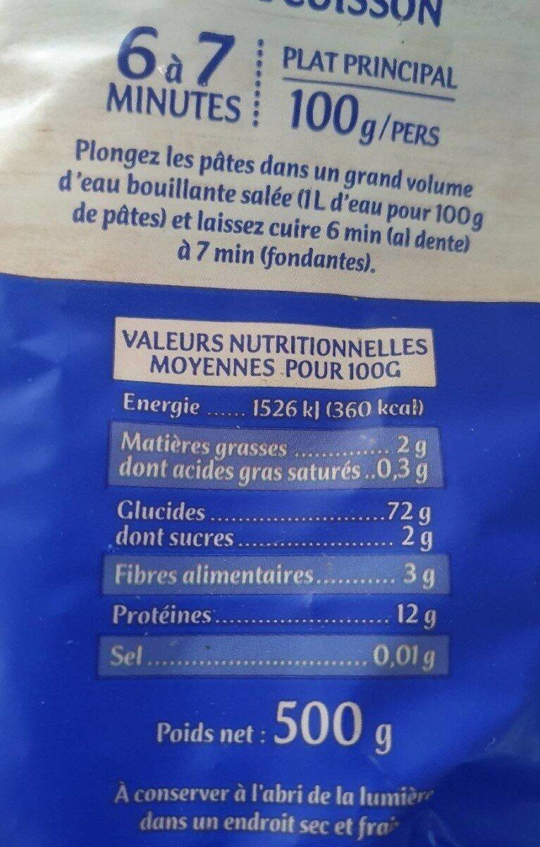 Les Frisettes - Informations nutritionnelles - fr