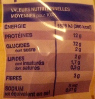 Épinettes - Informations nutritionnelles - fr