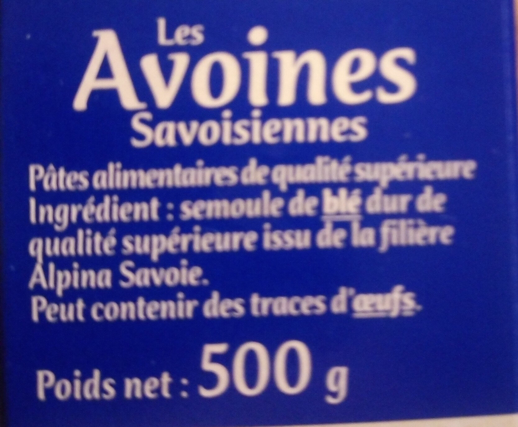 Avoines - Ingrédients - fr