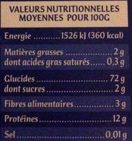 Les Perles Savoisiennes - Informations nutritionnelles - fr