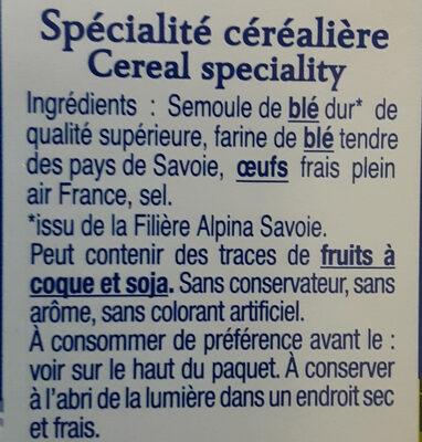 Les Crozets, Nature - Ingrédients - fr