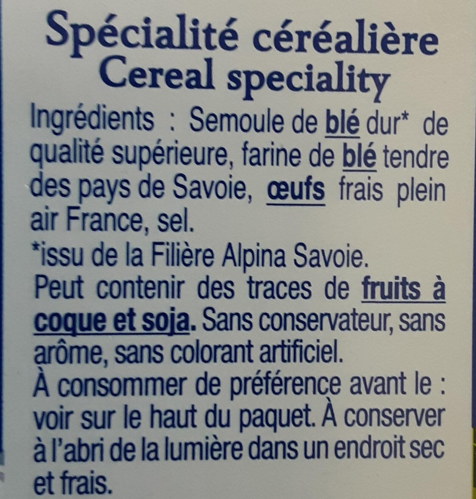 Les Crozets, Nature - Ingredients - fr