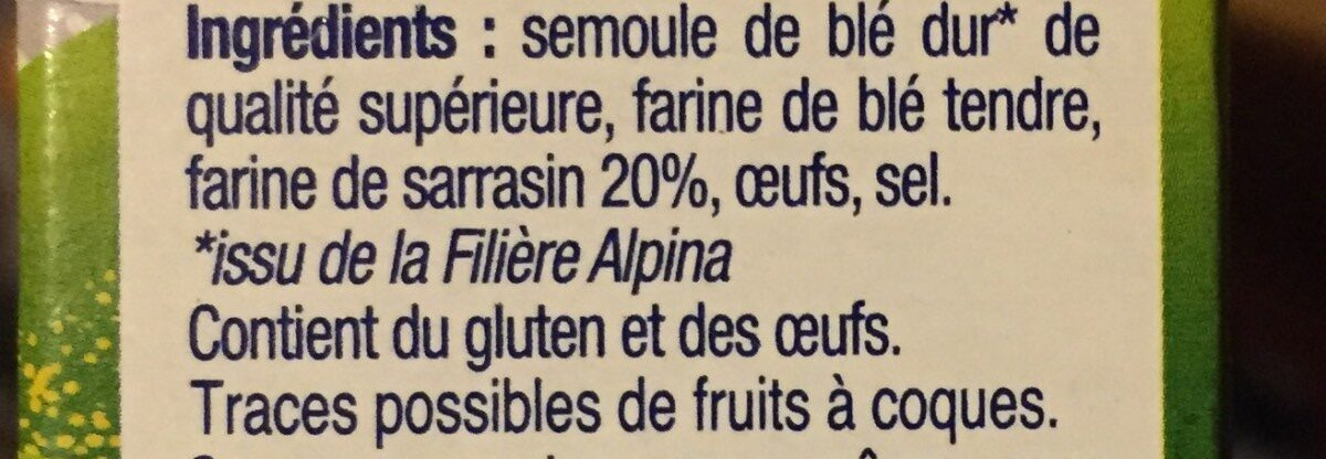 Crozets au Sarrasin - Ingrédients - fr