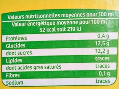Fruité Maxi Ananas - Voedingswaarden