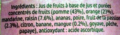 Maxi multifruits - Ingredients