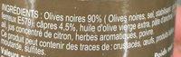 Tapenade - Ingrédients - fr