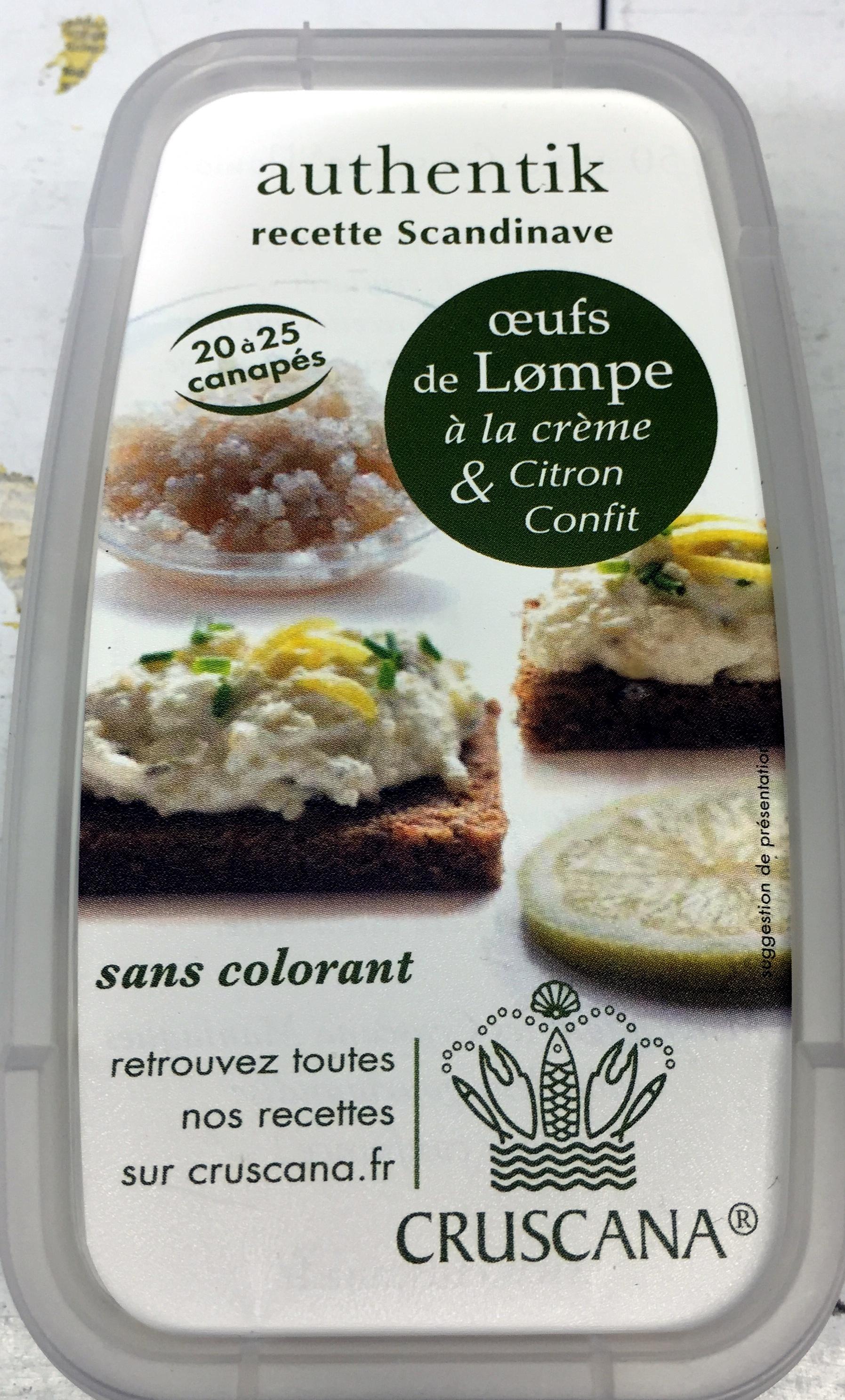 Œufs de lump à la crème et citron confit - authentik