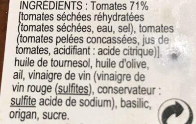 Confit de tomates séchées - Ingrédients