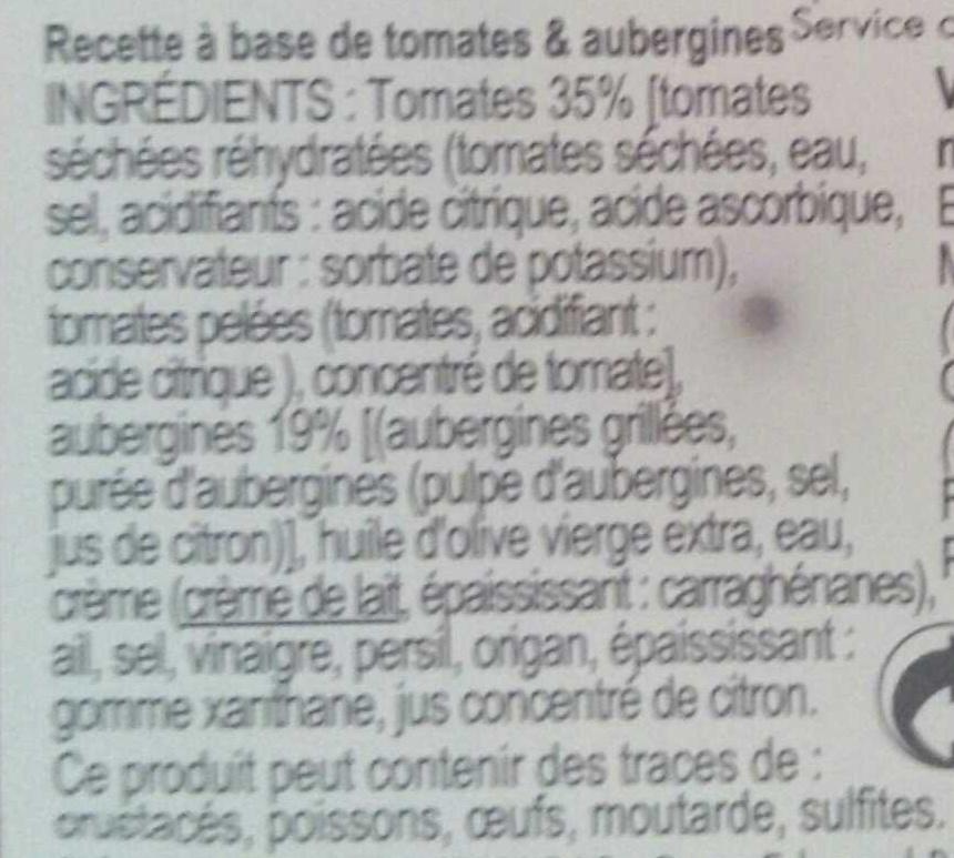 Tomates & aubergine - Ingrédients - fr