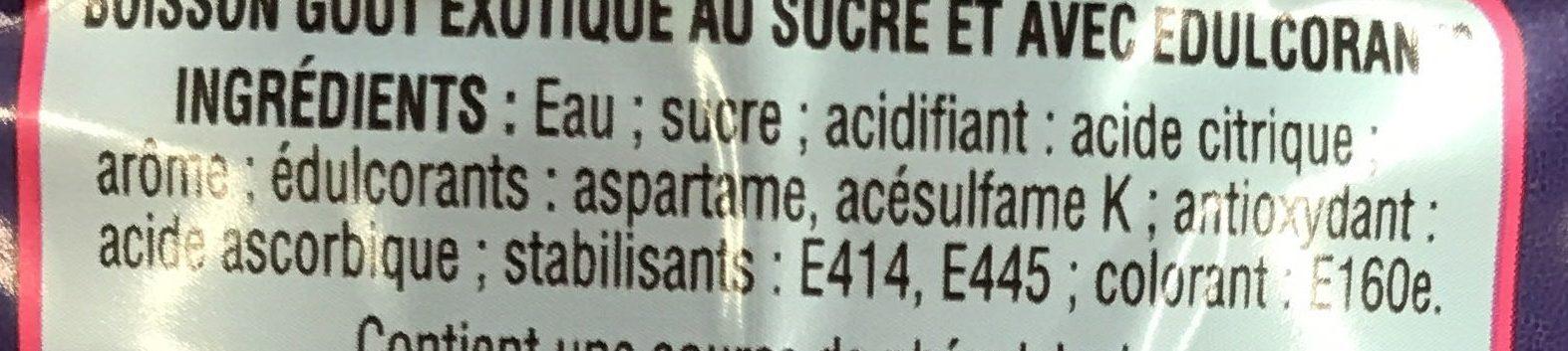 Boisson Goût Exotique - Ingrédients