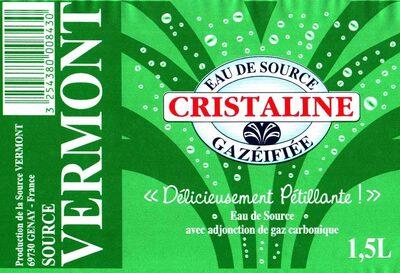 Eau de source gazéifiée Cristaline - Product - fr