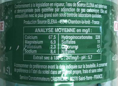 Cristaline pétillante - Ingredients - fr