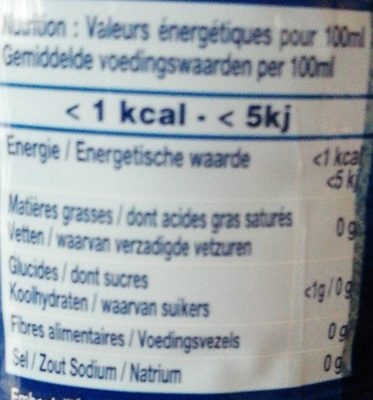 Cristaline - Goût Fruits Rouges - Voedigswaarden
