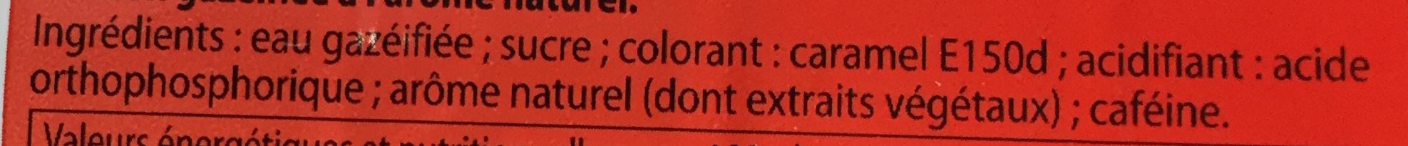 Soda aux extraits végétaux Cola - Ingrédients - fr