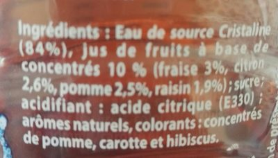 Cristaline fraise - Ingrediënten