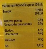 Cristaline tropical - Informations nutritionnelles - fr