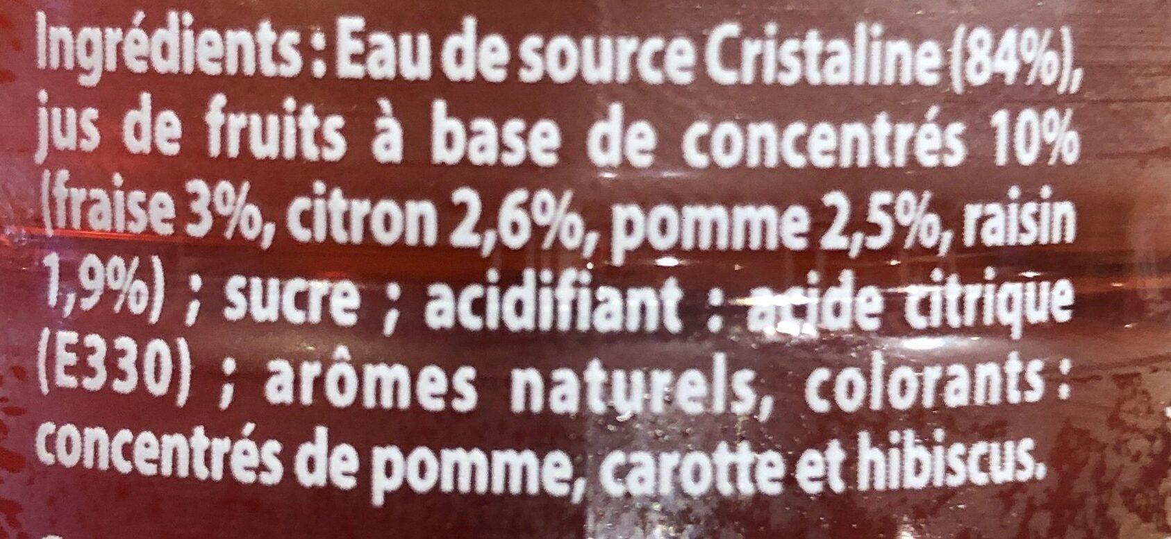 Cristaline Fraise - Ingrédients - fr