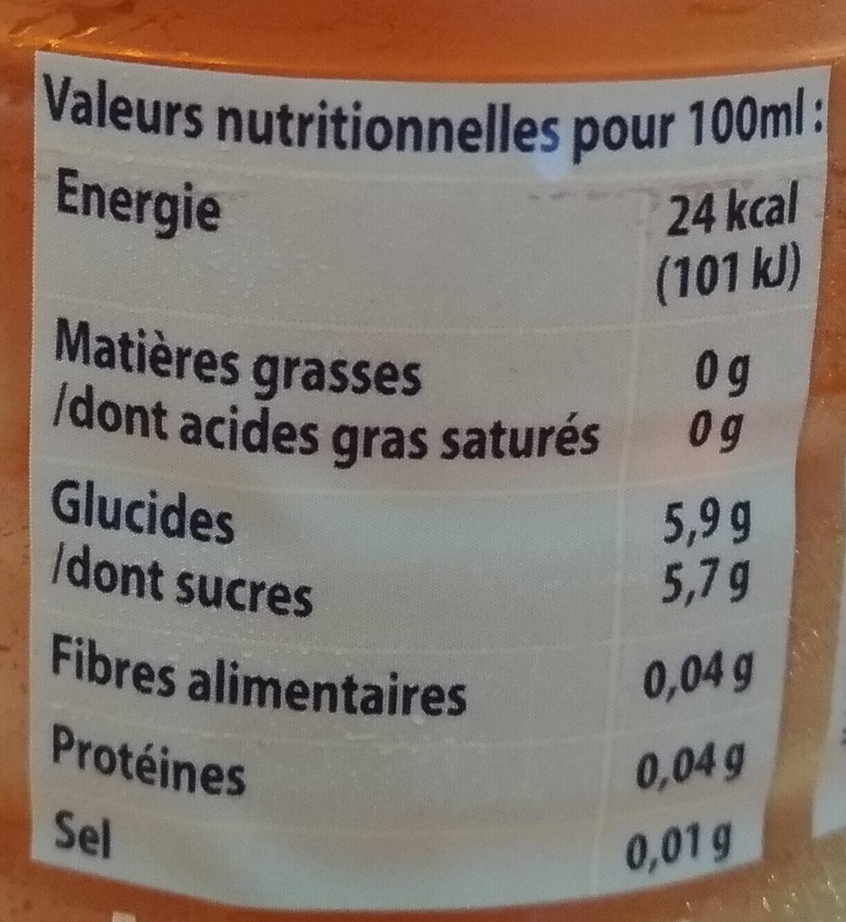 Cristaline Fraise - Informations nutritionnelles - fr