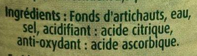 Fonds d'artichauts - Ingrediënten