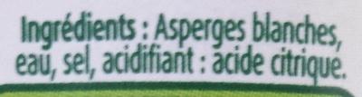 Asperges blanches miniatures - Ingredienti - fr