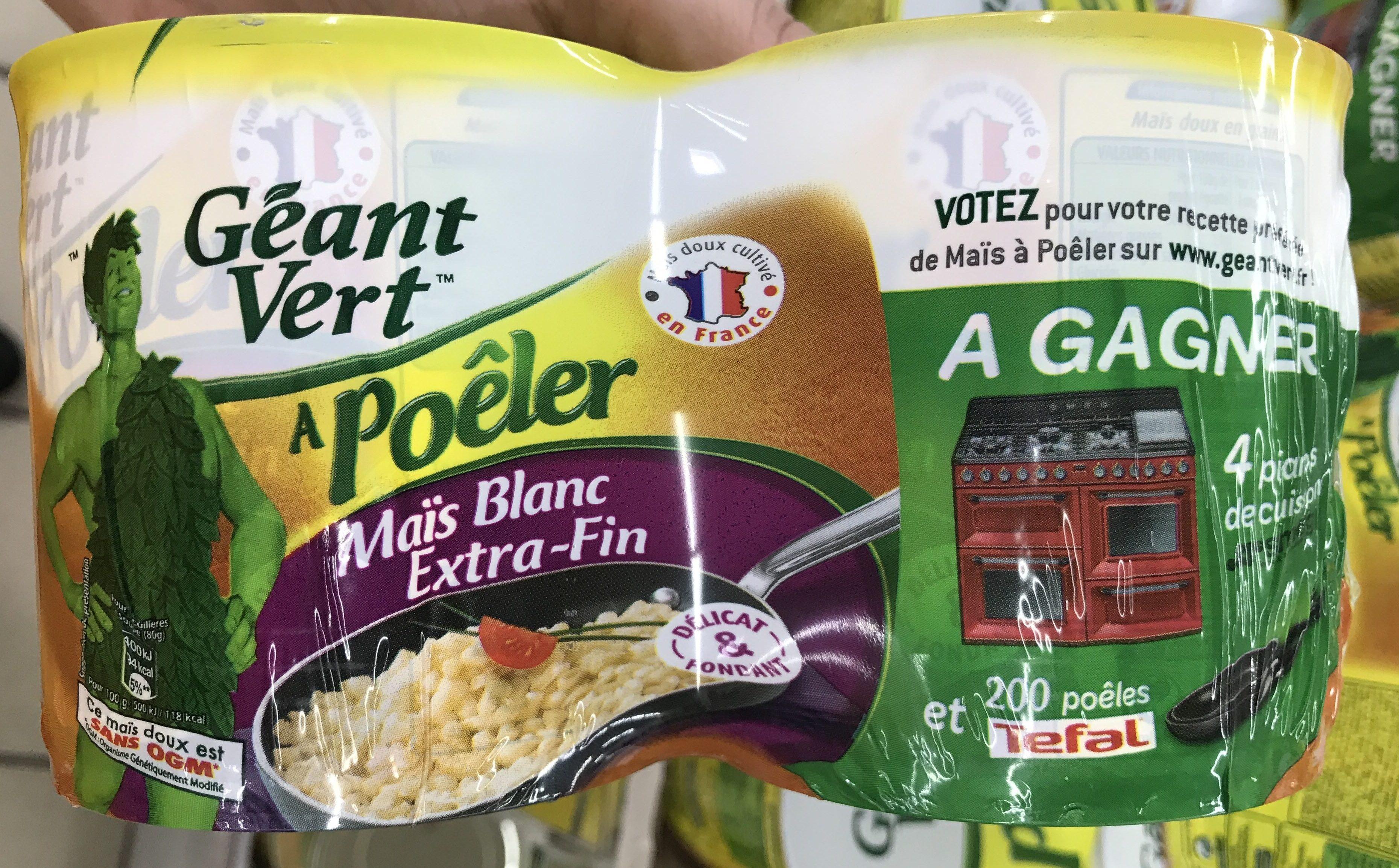 Maïs blanc extra-fin à poêler - Product