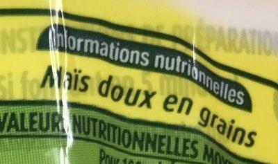 Maïs blanc extra-fin à poêler - Ingredients