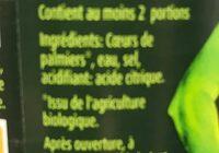 Coeurs de palmier - Ingrediënten