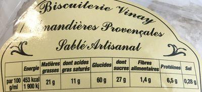 Amandières provençales - Ingrediënten