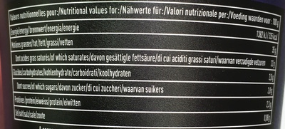 Crème Fraîche d'Isigny - Informations nutritionnelles