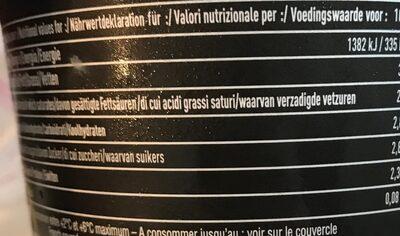 Crème d'Isigny AOP 35% - Informations nutritionnelles - fr