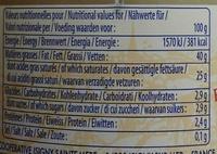 Crème fraîche d'Isigny - Nutrition facts