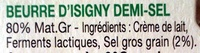 Beurre d'Isigny - Ingredients