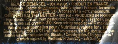 Beurre de baratte aux cristaux de sel de guérande - Ingrediënten