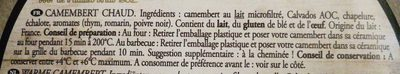 Camembert chaud - Ingrédients - fr