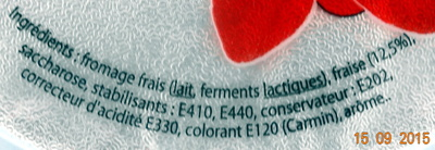 Fromage frais aux Fraises 6.5% Mg - Ingredients