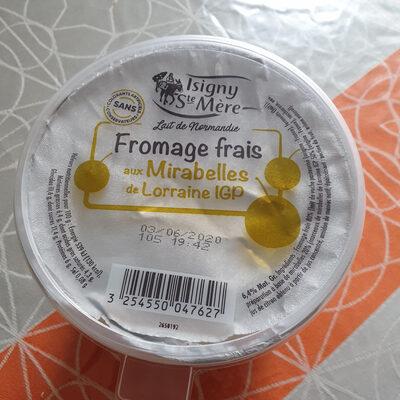 Fromage frais aux mirabelles - Ingrédients - fr