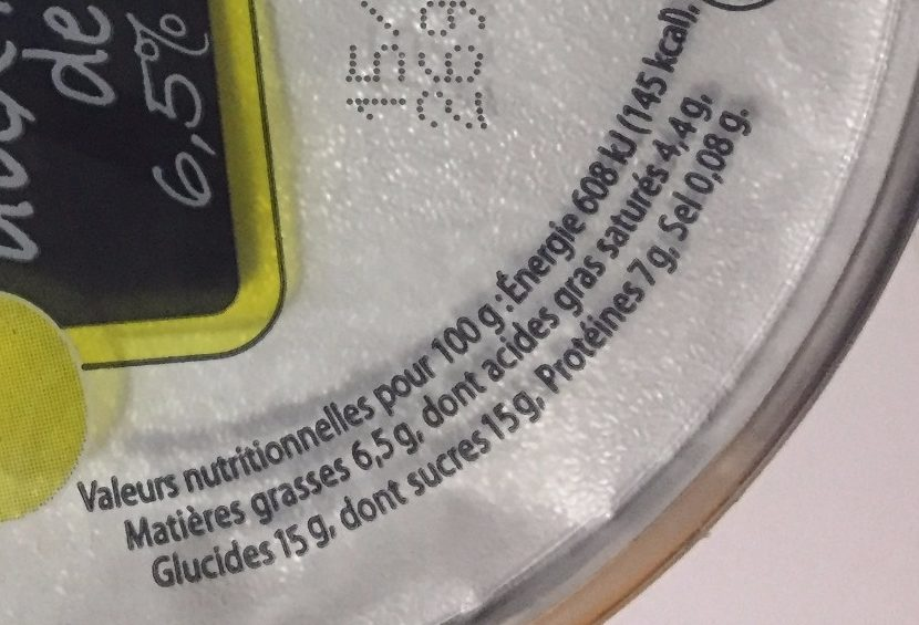 Fromage frais aux mirabelles - Informations nutritionnelles - fr