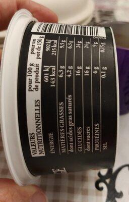 Fromages Frais aux Pommes Caramélisées - Informations nutritionnelles - fr