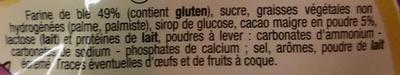 Biscuits fourrés goût chocolat - Ingredients