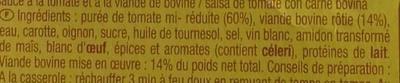 Sauce italienne à la viande de boeuf rôtie - Ingrédients - fr